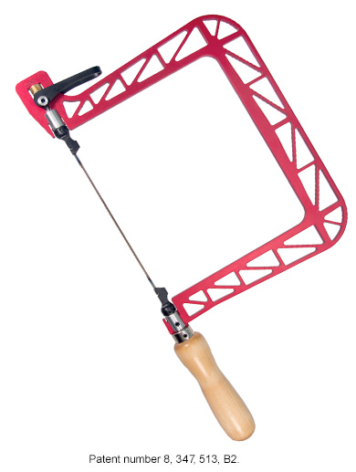 Knew concepts coping saws and blades 6 coping saw with lever tension and 360 rotation indexing blade hooks greentooth Gallery
